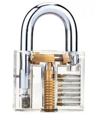 Clear See-Thru Keyed Padlock, Fantastic Practice Lock or Visual Aid