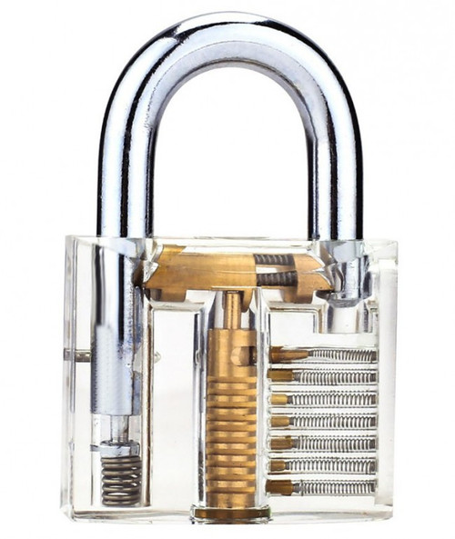 Clear See-Thru Keyed Padlock, Fantastic Practice Lock or Visual Aid