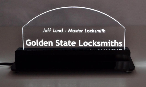 Acrylic Edge Lit Name Plate/Desktop Sign - Laser Engraved to Your Specs