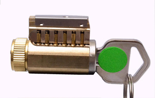 6-Pinned KIK Style Practice Lock, Your Choice of Keyway, Combination Difficulty Level and Top Pins