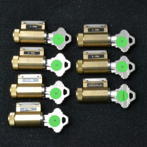Progressive Set of 7 Practice Locks, SC Keyway
