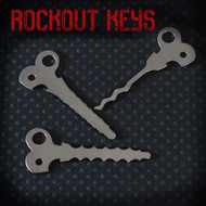 Rockout Keys - Set of 3 Wafer Keys from Sparrows