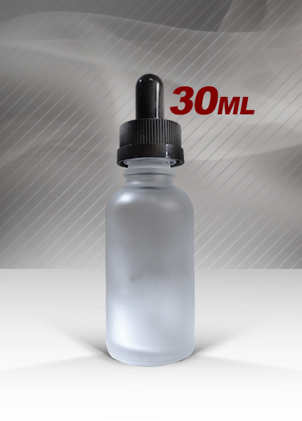 White Frosted 30mL glass bottles at ECBlend Flavors
