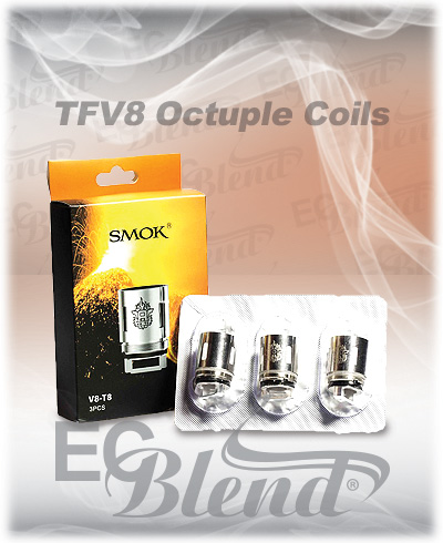 Clearomizer Replacement Head - SmokTech - TFV8 Octuple Coil - 3 Pack at ECBlend Flavors