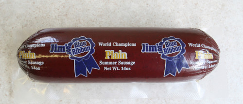 Jim's Blue Ribbon World Champion 14oz Plain Summer Sausage