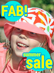 Swedish summer wear for active children - swimsuits, swimming shorts, swim nappies for babies, sunhats and swimming flotation aids