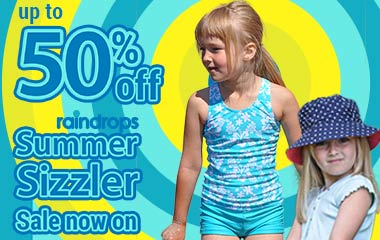 Raindrops summer sizzler: save up to 50 percent