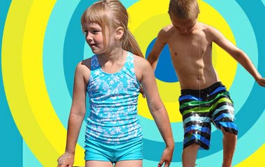 Kid's swimwear: trunks, shorts, swimsuits, tankinis and more from top Scandinavian brands