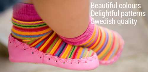 Fashion mocassins for kids and toddlers: beautiful colours, delightful patterns, Swedish quality