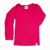 Girls Long Sleeved Merino Wool Thermal Top