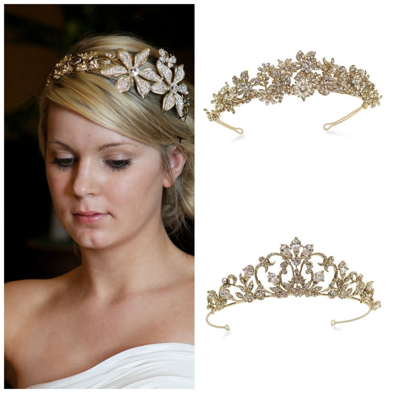 wedding tiaras gold