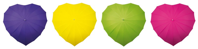 heart wedding umbrellas