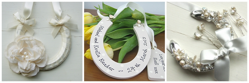 lucky wedding horseshoes UK handmade