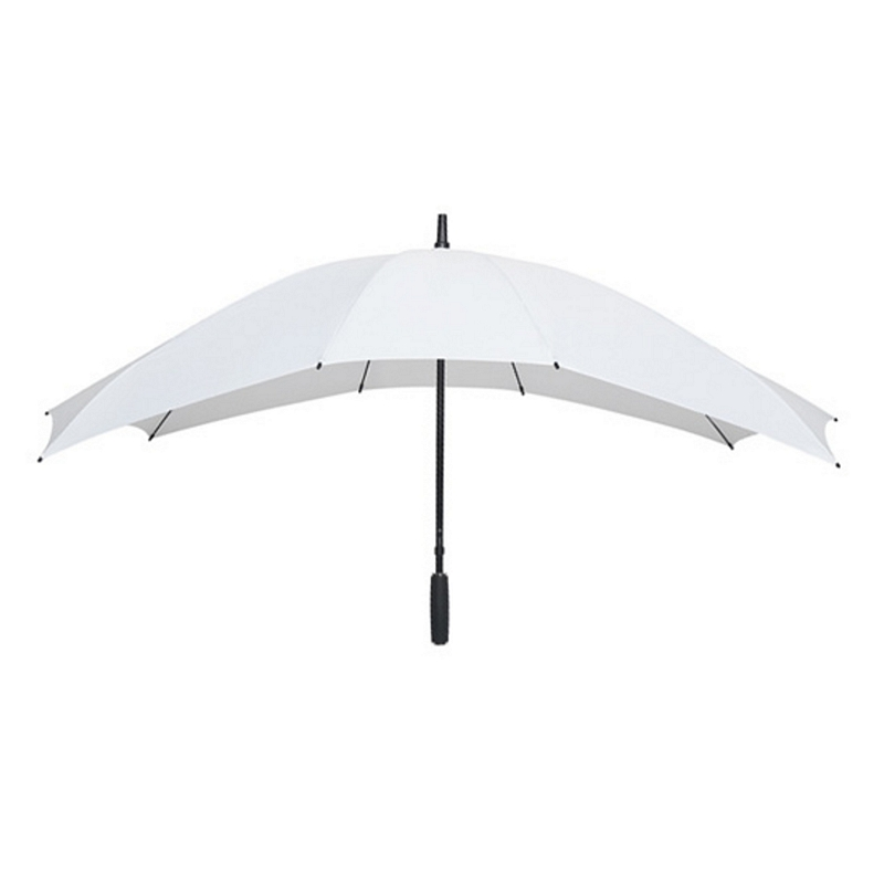 double white wedding umbrella