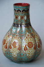 Antique Zsolnay Art Nouveau Vase c1880