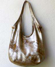 Suede Shimmer Sling Bag