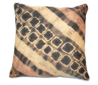 Kuba Tie Dye Raffia Cloth Pillow