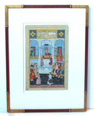 Antique Persian Miniature Framed Painting