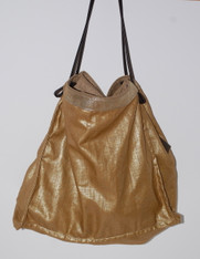 Gold Waxed Linen Tote