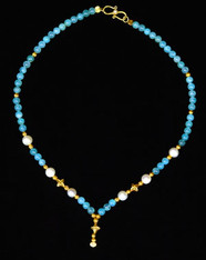 Peruvian Opals with Pearls & 24kt.Gold