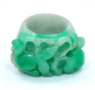 Antique Carved Jadeite Ring SOLD