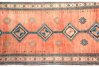 "Antique Caucasian Runner, 12'7"" x 4'3"""