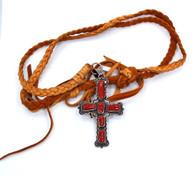 JC Delgarito Navajo Cross Necklace