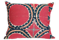 "Antique Suzani Textile Pillow 24"" x 22"" SOLD"