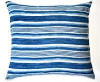 African Stripe Indigo Woven Cotton Pillow SOLD