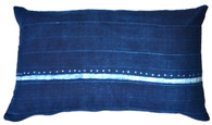 Indigo Tie-Dye Tribal Pillow SOLD