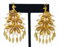 18k Gold Filigree Earrings