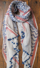 Yaser Shaw Silk/Cotton Scarf SOLD