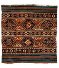 19th-C. Caucasian Kilim