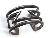 Early Navajo Silver Cast Cuff Bracelet