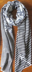 Yaser Shaw Stripe Wool Shawl SOLD