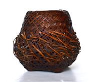 Japanese Woven Ikebana Basket