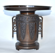 Japanese Bronze Usubata Ikebana Vase