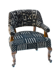 Antique Chair w/Mud Cloth Textile SOLD