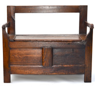 18th-C French Oak Country Bench SOLD