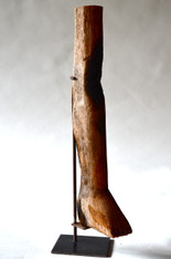 Antique Ex-Voto Wood Milagro Leg from Brazilian Church Shrine