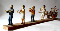 Marco Oviedo 'Death Cart Procession' Wood Carving SOLD