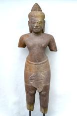 Khmer Standing Stone Shiva Figure