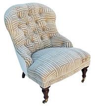 Mud Cloth Boudoir Chair SOLD