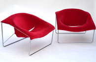Italian Modern Lounge Chairs Style of Augusto Bozzi, Pair
