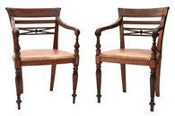 19th Century Colonial Armchair Pair