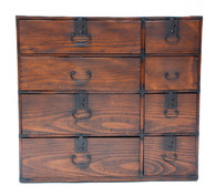 Antique Japanese Tansu With 8 Drawers