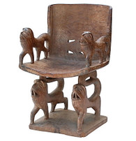 African Benin Wood Chair SOLD