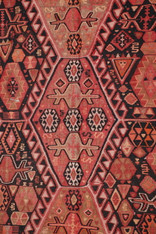 "Antique Caucasian Kilim 13' 4"" x 5' 7"""