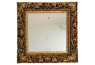 19th-C. Italian Carved Gilt-Wood Mirror