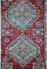 "Afghanistan Tribal Wool Rug 6'1"" x 4'"
